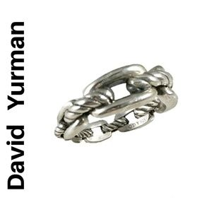 David Yurman Sterling Silver Ring, sz. 6.5